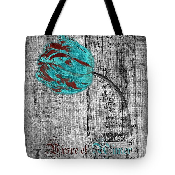 Tulip - Vivre Et Aimer S12ab4t Tote Bag by Variance Collections