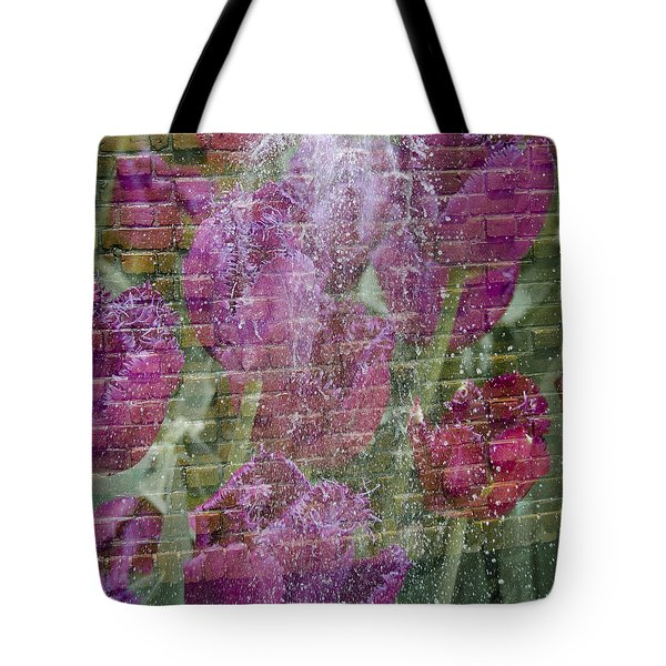 Tulip Waterfalls Tote Bag by Penny Lisowski