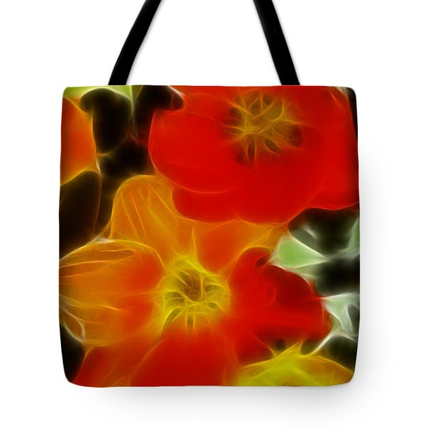 Tulips-6681-fractal Tote Bag by Gary Gingrich Galleries
