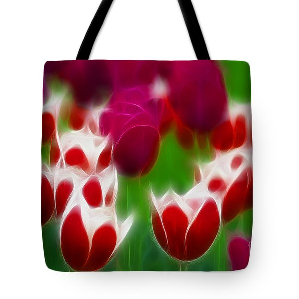 Tulips-6848-fractal Tote Bag by Gary Gingrich Galleries