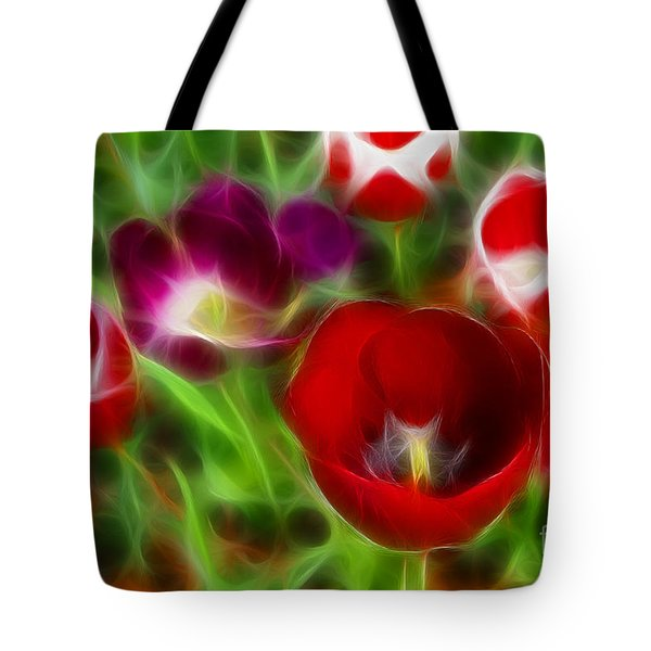 Tulips-6967-fractal Tote Bag by Gary Gingrich Galleries
