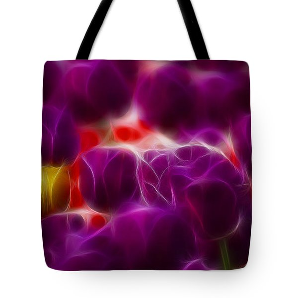 Tulips-6999-fractal Tote Bag by Gary Gingrich Galleries