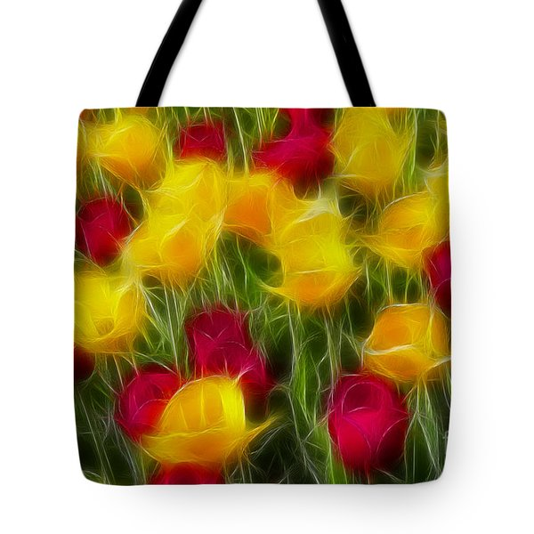 Tulips-7106-fractal Tote Bag by Gary Gingrich Galleries