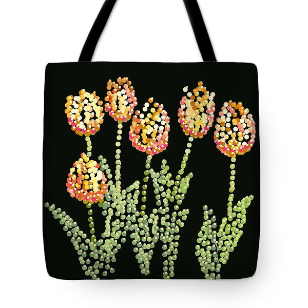 Tulips Bedazzled Tote Bag