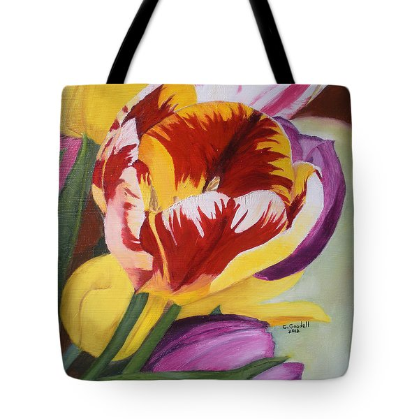 Tulips Tote Bag by Claudia Goodell