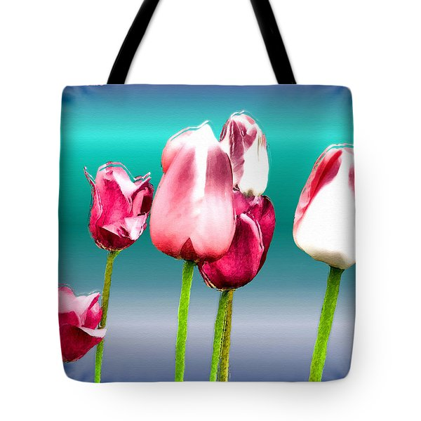Tote Bag featuring the digital art Tulips by Daniel Janda