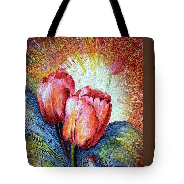 Tulips Tote Bag by Harsh Malik
