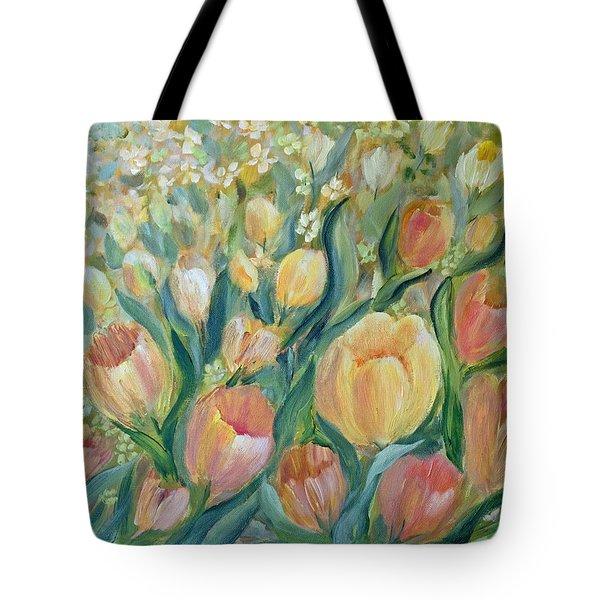 Tulips II Tote Bag by Joanne Smoley