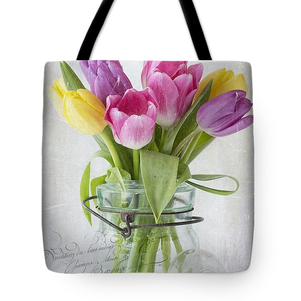 Tulips In A Jar Tote Bag