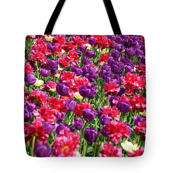 Tulips In A Meadow Tote Bag