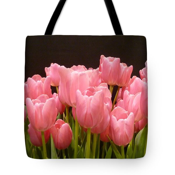 Tulips In Bloom Tote Bag by Lingfai Leung