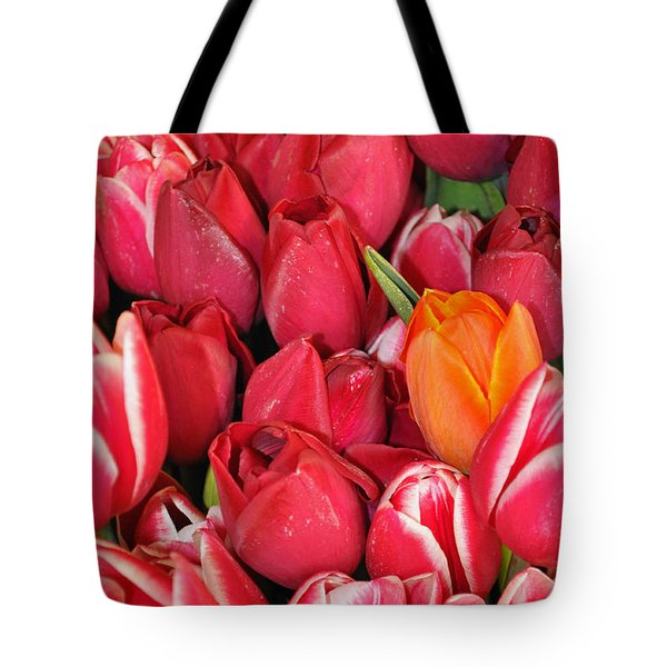 Tulips In Pike Place Market Tote Bag
