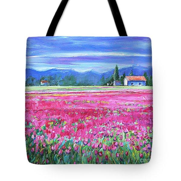 Tulips In Spring Tote Bag