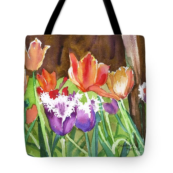 Tulips In Spring Tote Bag