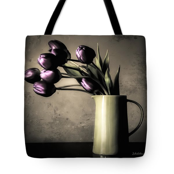 Tulips In The Evening Light Tote Bag by Julie Palencia