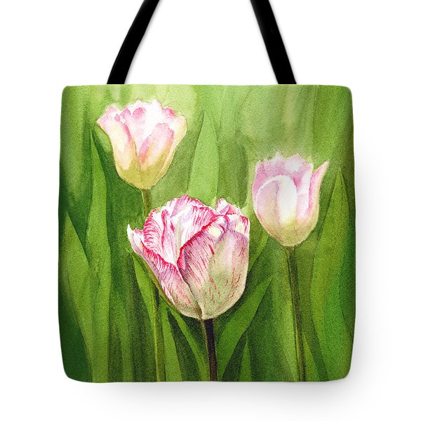 Tulips In The Fog Tote Bag