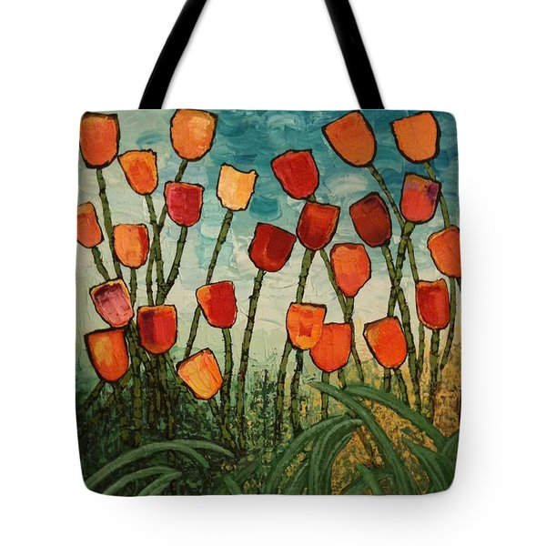 Tulips Tote Bag by Linda Bailey