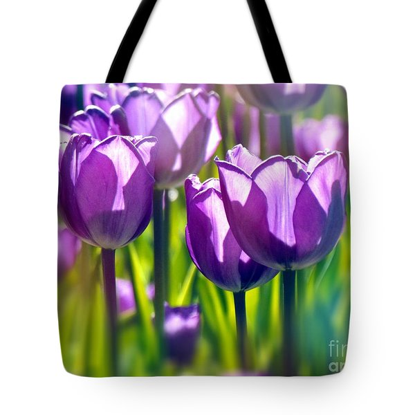 Tote Bag featuring the photograph Tulips Mauve by France Laliberte