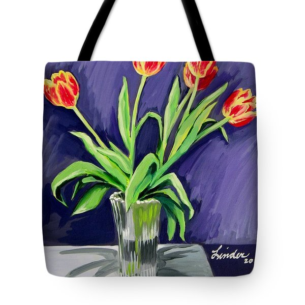 Tulips On The Table Tote Bag