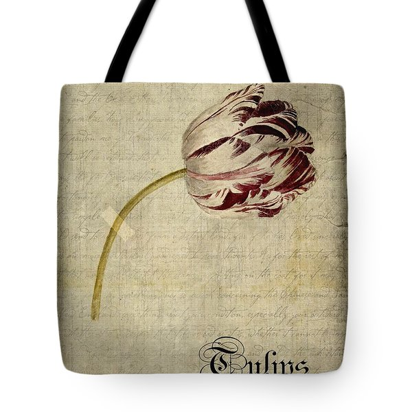 Tulips - S01bt2t Tote Bag by Variance Collections