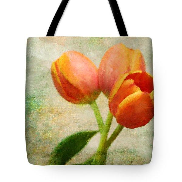 Tulips Three Tote Bag