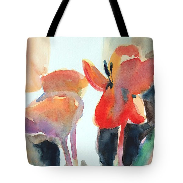 Tulips Together Tote Bag