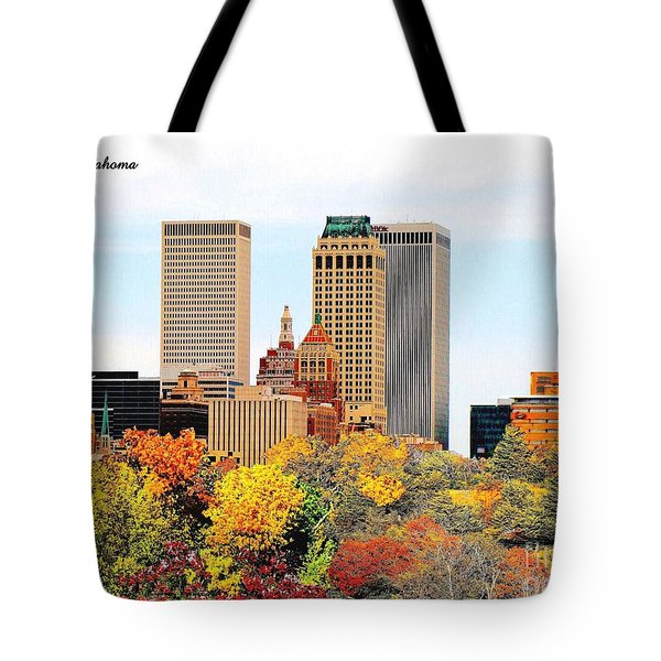 Tulsa Oklahoma In Autumn Tote Bag