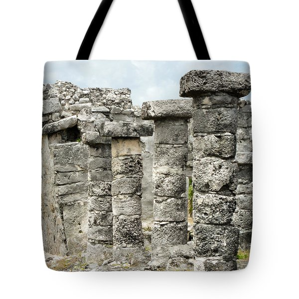 Tote Bag featuring the photograph Tulum by Silvia Bruno