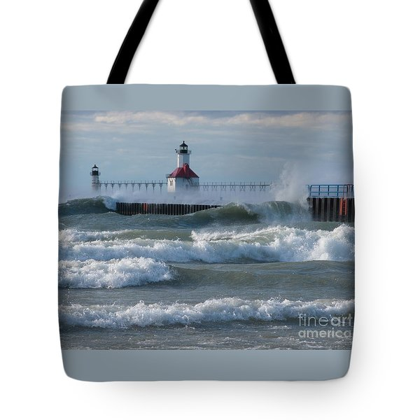 Tumultuous Lake Tote Bag by Ann Horn
