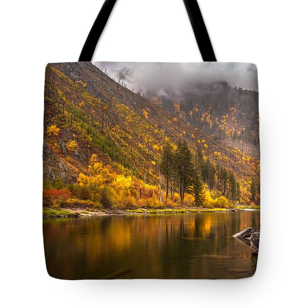 Tumwater Canyon Fall Serenity Tote Bag by Mike Reid