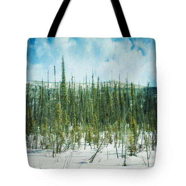 Tundra Forest Tote Bag by Priska Wettstein