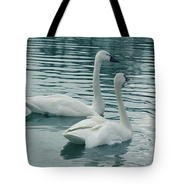 Tundra Swans Tote Bag by Kathleen Struckle