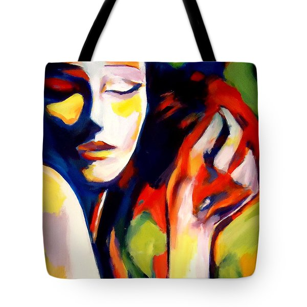 Tote Bag featuring the painting Tuning by Helena Wierzbicki