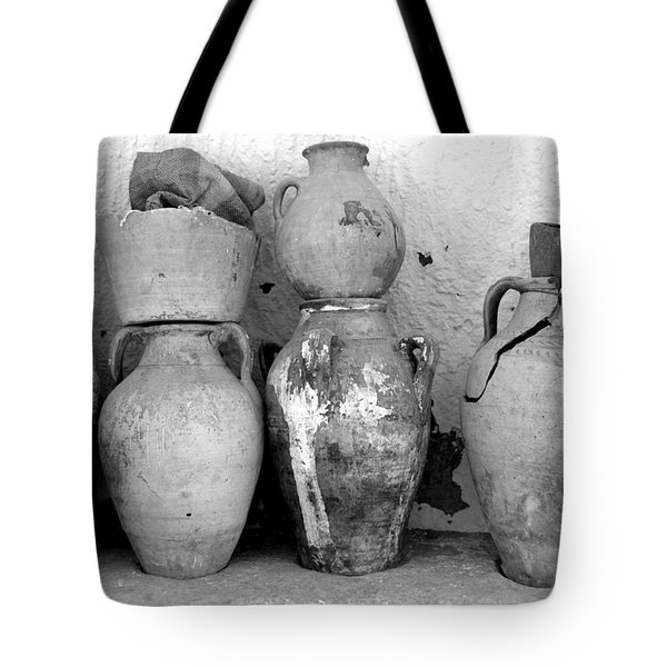 Tote Bag featuring the photograph Tunisian Pottery by Randi Grace Nilsberg