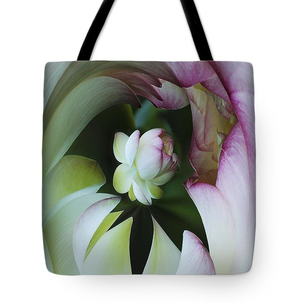 Tunnel Of Lotus Tote Bag by Jean Noren