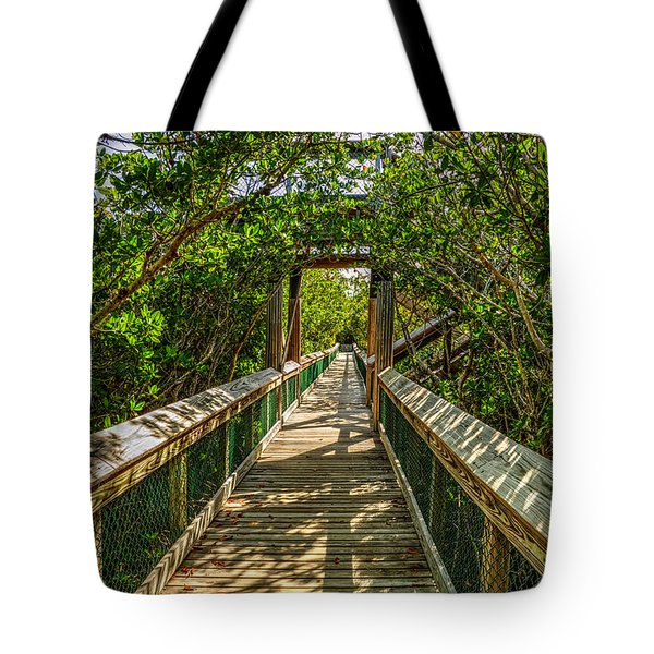 Tote Bag featuring the photograph Tunnel Of Mangrove Green by Julis Simo