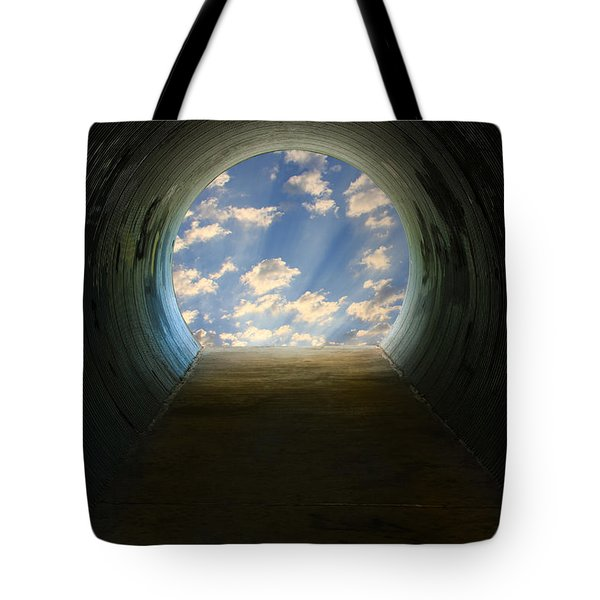 Tunnel With Light Tote Bag