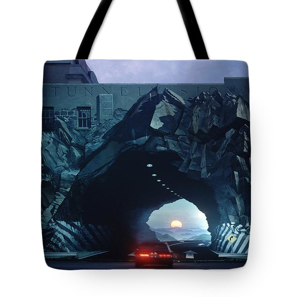 Tunnelvision Tote Bag by Blue Sky