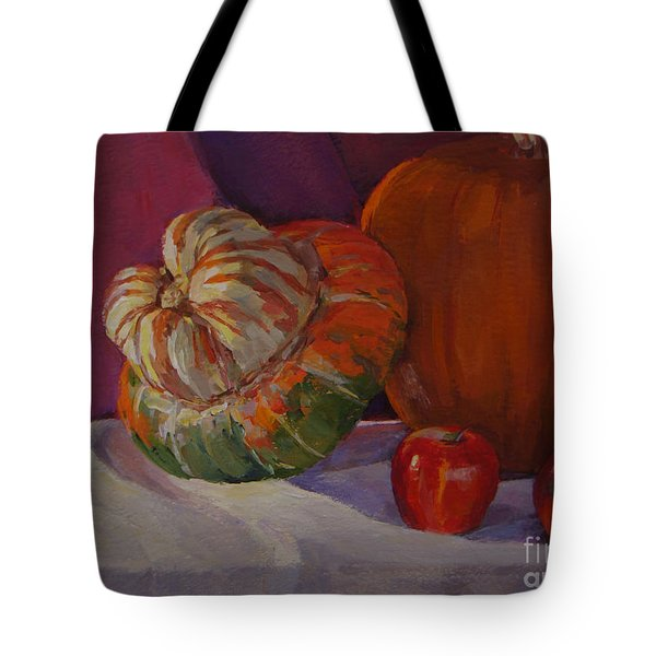 Turban Squash With Fall Friends Tote Bag