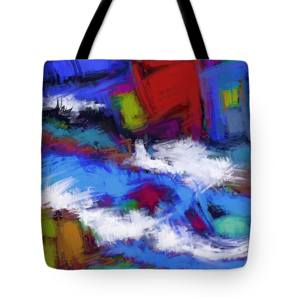 Turbulence Tote Bag by Keith Mills
