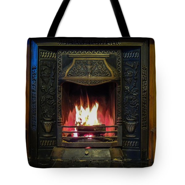 Turf Fire In Irish Cottage Tote Bag