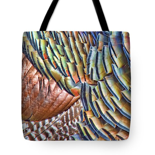 Turkey Feather Colors Tote Bag
