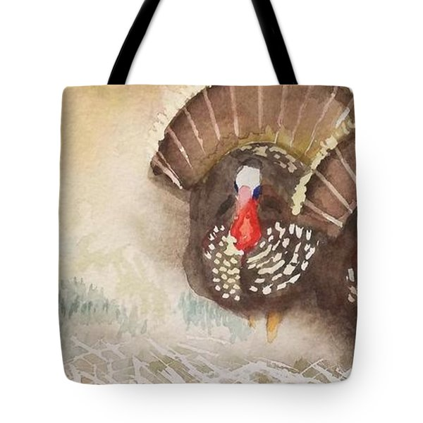 Turkeys Tote Bag by Yoshiko Mishina