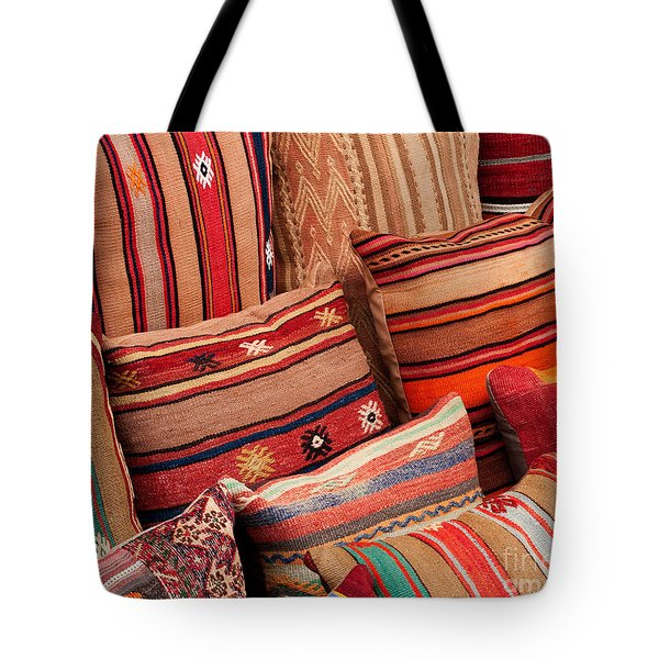 Turkish Cushions 02 Tote Bag by Rick Piper Photography