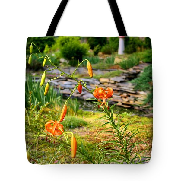 Tote Bag featuring the photograph Turk's Cap Lily by Kathryn Meyer