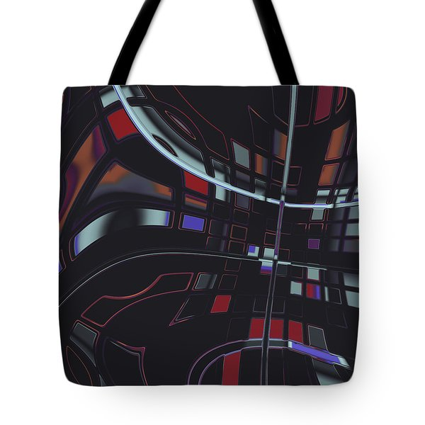 Tote Bag featuring the digital art Turmoil by Judi Suni Hall