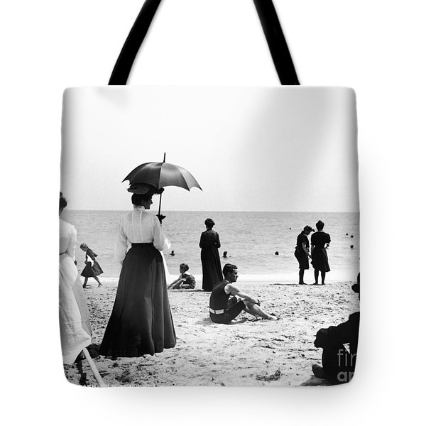 Turn Of The Century Palm Beach Tote Bag by LOC Science Source