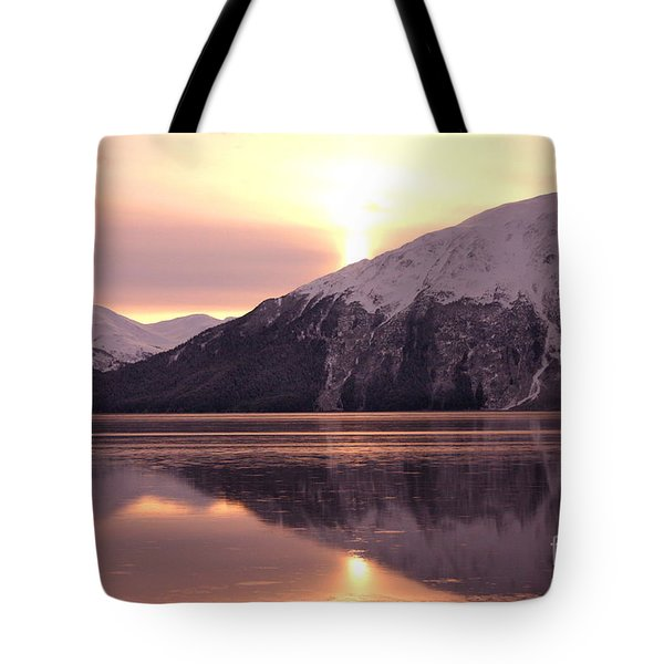Turnagain Arm Morning Tote Bag by Crystal Magee