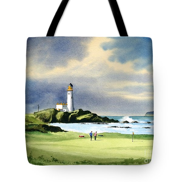 Turnberry Golf Course Scotland 10th Green Tote Bag by Bill Holkham