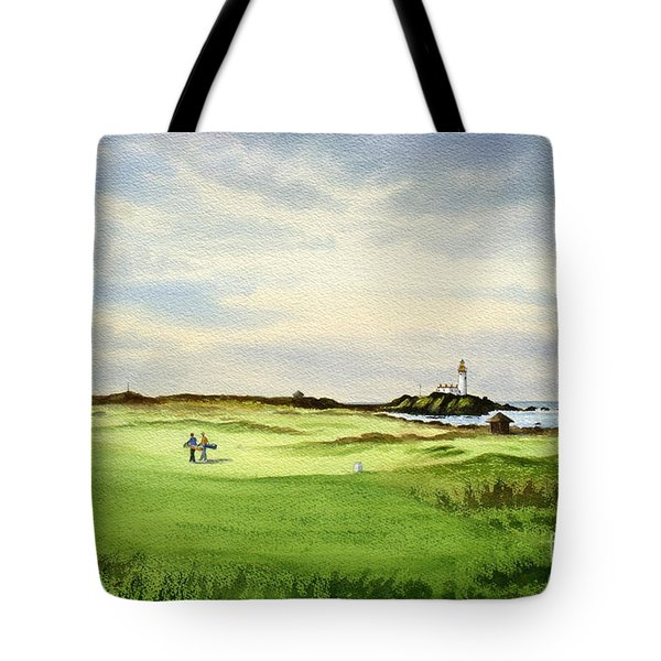 Turnberry Golf Course Scotland 12th Tee Tote Bag